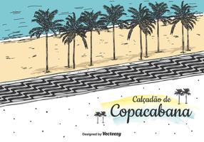 Copacabana Vector Background