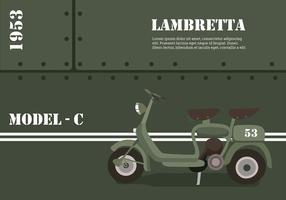 Lambretta Model-C Free Vector