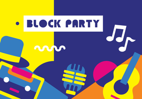 Block Party Background Vector