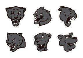 Free Panthers Logo Vector Set