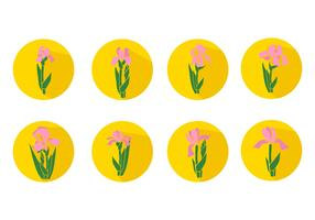 Free Iris Flower Icons Vector