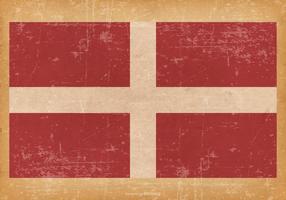Flag of Sovereign Military Order of Malta on Grunge Background