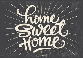 Cute Typographic Home Sweet Home Illustration