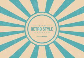 Retro Style Sunburst Background