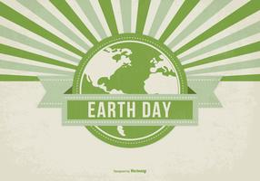 Retro Style Earth Day Illustration