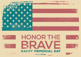 Retro Happy Memorial Day Background