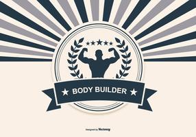 Retro Body Building Illustration