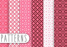 Pink Damask Decorative Pattern Set
