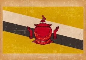 Flag of Brunei on Grunge Background