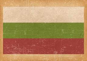 Flag of Bulgaria on Grunge Background