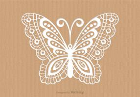 Recycled Paper Card With Laser Cut Mariposa