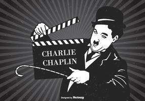 Charlie Chaplin Vector Retro Poster