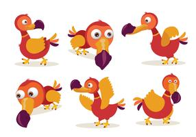 Dodo Cartoon Character Pose Vector Illustration