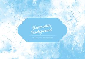 Vector Light Blue Watercolor Background