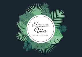 Free Tropical Summer Palm Vector Background