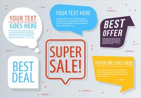 Free Vector Chat Bubbles Design