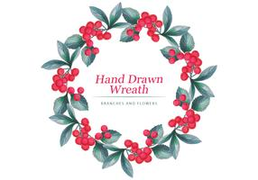 Vector Hand Drawn Wreath