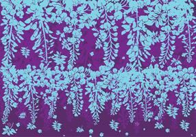 Blue and Purple Wisteria Flowers Vector
