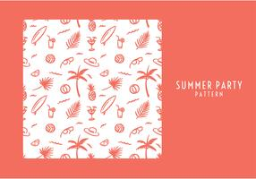 Summer Party Pattern Free Vector