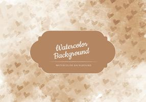 Vector Tan with Tiny Hearts Watercolor Background