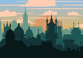 Prague City In Silhouette