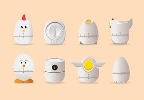 Chicken Egg Timer Vector