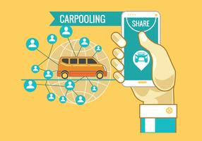 Carpooling Concept Vector