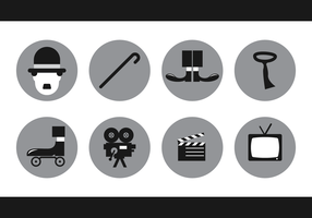 Charlie Chaplin Icon Vector