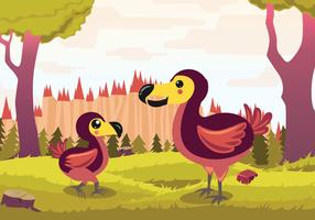 Dodo Cartoon Vector Illustration