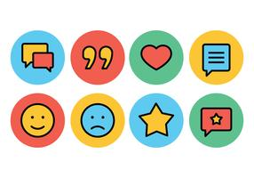 Testimonials and Feedback Icon Set