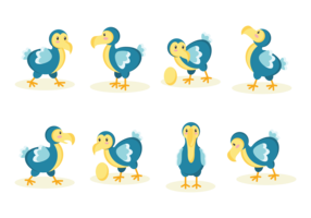 Dodo Cartoon Vector