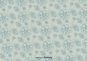 Vector Pattern With Flowers On Background