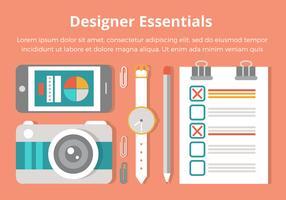 Free Flat Design Vector Designer Essentials