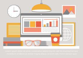 Free Vector Flat Design Desktop Illustration