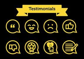 Testimonials Vector Icons