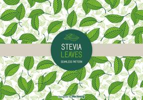 Stevia Leaves Vector Seamless Patterns