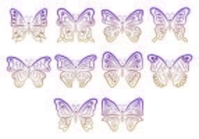 Set Of Mariposa Symbols