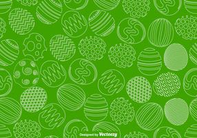 Vector Easter Eggs Seamless Pattern For Spring Season