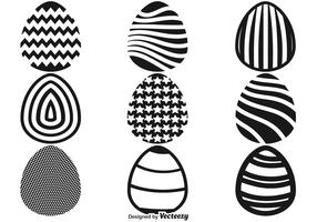 Easter Eggs Flat Icons Vector