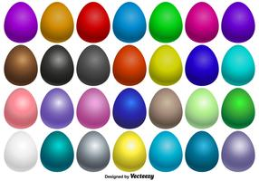 Collection Of Vector Easter Eggs