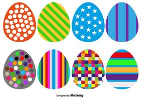 Collection Of 8 Vector Easter Eggs For Any Use - Vector