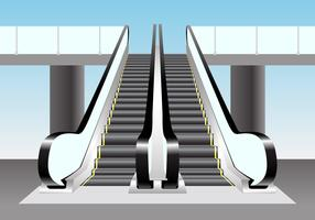 Escalator Vector Scene