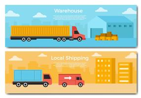 Free Delivery Truck Banner Vector