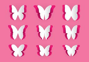 Paper Cut Butterfly Vector Pack