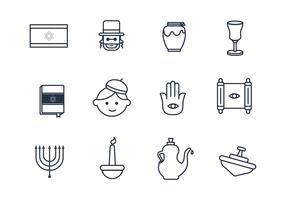 Judaism Outline Icons