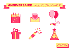 Anniversaire Free Vector Pack