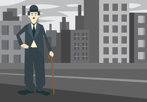 Charlie Chaplin Vector Background