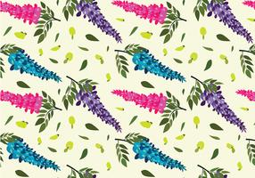 Wisteria Pattern Free Vector