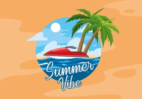 Summer Water Jet Free Vector