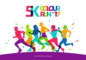 5K Color Run Template Free Vector
